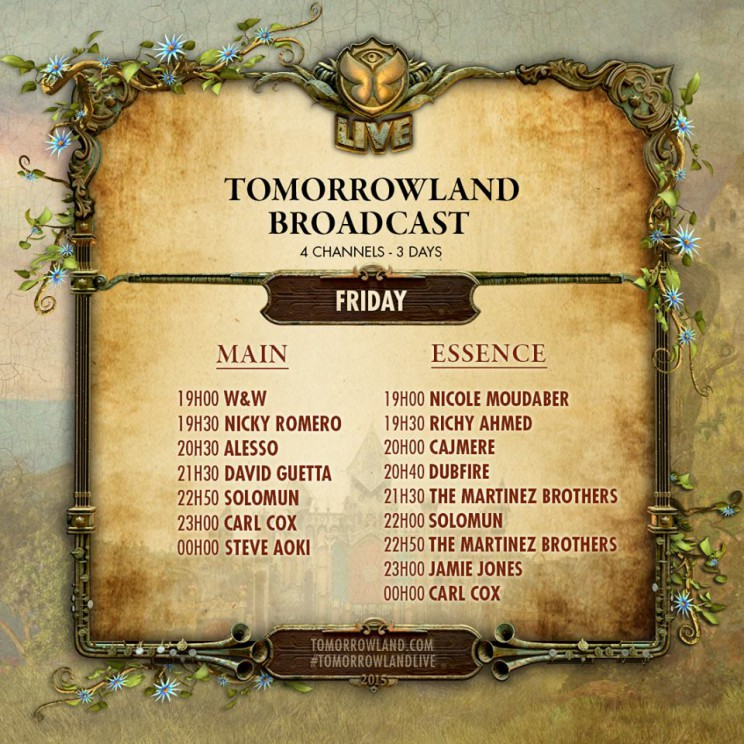 Tomorrowland Live Stream Belgia 2015