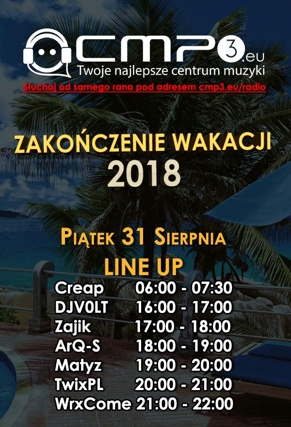 Zakończenie wakacji 2018 z cmp3.eu