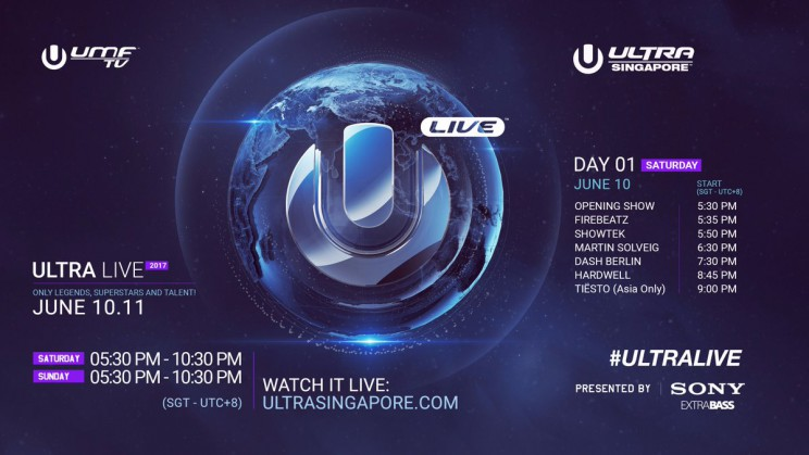 Ultra Music Festival Singapore 2017 Line Up day 1